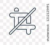 crop vector outline icon...   Shutterstock .eps vector #1212125491