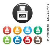vote election box icons set 9...