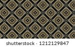 geometric gold and black...   Shutterstock . vector #1212129847