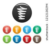 spiral spring icons set 9 color ... | Shutterstock .eps vector #1212130294