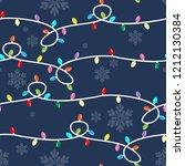 christmas seamless pattern of... | Shutterstock .eps vector #1212130384