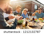 leisure and people concept  ... | Shutterstock . vector #1212132787