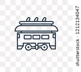 tram vector outline icon... | Shutterstock .eps vector #1212134047