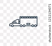lorry vector outline icon... | Shutterstock .eps vector #1212134071