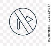 no turn right vector outline... | Shutterstock .eps vector #1212134167