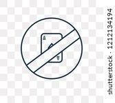no gambling vector outline icon ...   Shutterstock .eps vector #1212134194