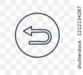 u turn vector outline icon... | Shutterstock .eps vector #1212134287