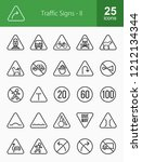 traffic signs line icons   Shutterstock .eps vector #1212134344