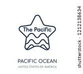 pacific ocean icon. pacific... | Shutterstock .eps vector #1212138634
