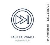 fast forward icon. fast forward ... | Shutterstock .eps vector #1212138727
