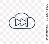 fast forward vector outline... | Shutterstock .eps vector #1212141427