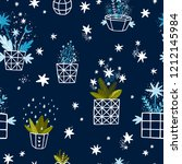 vector winter background with... | Shutterstock .eps vector #1212145984