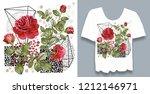 stylish  designer print on t... | Shutterstock . vector #1212146971