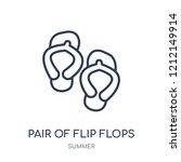 pair of flip flops icon. pair... | Shutterstock .eps vector #1212149914