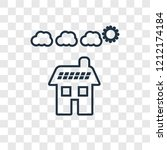 solar panel concept vector... | Shutterstock .eps vector #1212174184