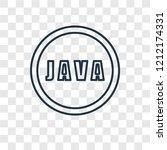 java concept vector linear icon ... | Shutterstock .eps vector #1212174331