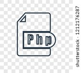 php concept vector linear icon... | Shutterstock .eps vector #1212176287