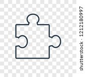 puzzle concept vector linear... | Shutterstock .eps vector #1212180997
