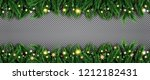 fir branch with neon lights and ... | Shutterstock .eps vector #1212182431
