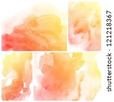 set of colorful abstract... | Shutterstock . vector #121218367