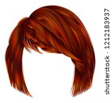 trendy  woman  hairs kare with ... | Shutterstock .eps vector #1212183937