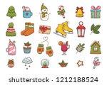 winter illustrations. cute... | Shutterstock .eps vector #1212188524