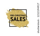 the words pre christmas sales... | Shutterstock .eps vector #1212194917