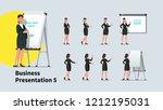 attractive business teacher... | Shutterstock .eps vector #1212195031