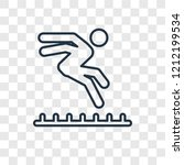 long jump concept vector linear ... | Shutterstock .eps vector #1212199534