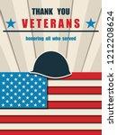 happy veterans day. greeting... | Shutterstock .eps vector #1212208624