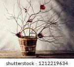 late autumn still life  ikebana ... | Shutterstock . vector #1212219634