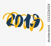 2019   new year lettering.... | Shutterstock .eps vector #1212226324