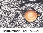 coffee mood. a cup of aromatic... | Shutterstock . vector #1212238621
