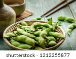 green japanese soybean in... | Shutterstock . vector #1212255877