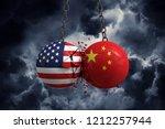 relationship conflict between... | Shutterstock . vector #1212257944