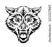 wolf   Shutterstock .eps vector #121227865