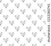 chicken pattern seamless...   Shutterstock . vector #1212283741