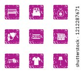 vital space icons set. grunge... | Shutterstock . vector #1212287671
