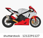 motorcycle racing design vector ... | Shutterstock .eps vector #1212291127