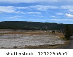 white dome geyser cone at lower ... | Shutterstock . vector #1212295654