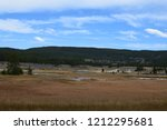 white dome geyser cone at lower ... | Shutterstock . vector #1212295681