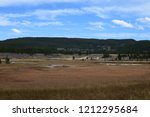 white dome geyser cone at lower ... | Shutterstock . vector #1212295684