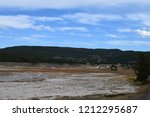 white dome geyser cone at lower ... | Shutterstock . vector #1212295687