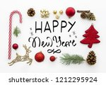 greeting card with hand... | Shutterstock . vector #1212295924
