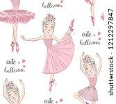 cartoon seamless pattern with...   Shutterstock .eps vector #1212297847