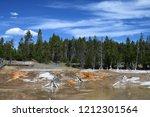 bacteria mat near surprise pool ... | Shutterstock . vector #1212301564