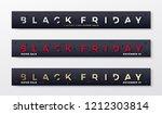 black friday premium banners or ...   Shutterstock .eps vector #1212303814