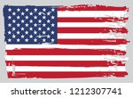 old dirty flag of united states.... | Shutterstock .eps vector #1212307741