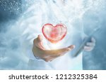a doctor is showing a bright... | Shutterstock . vector #1212325384