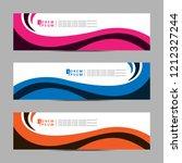 vector abstract banner design... | Shutterstock .eps vector #1212327244